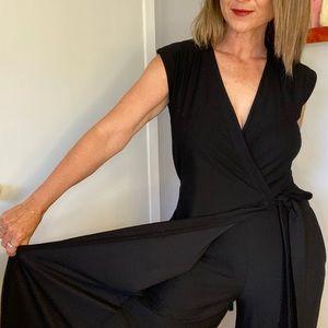Eileen Fisher sleeveless wrap front romper XXS